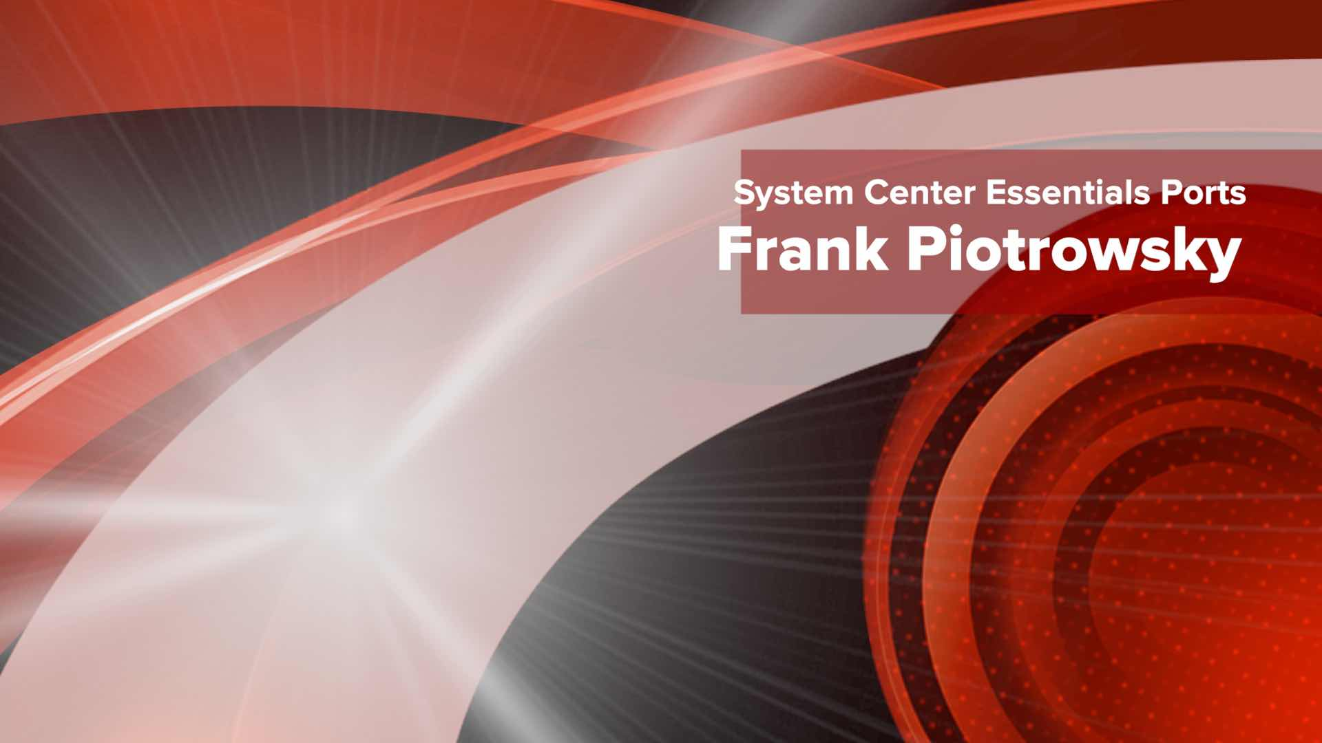 System Center Essentials Ports