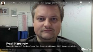 Manuelle DPM Agent Installation – Microsoft System Center Data Protection Manager 2007
