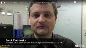 Microsoft Office 2007 erfordert Aktivierung bei Remotedesktop-Zugriff