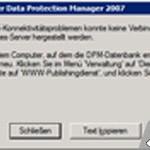 IIS-Konnektivitäts-Fehlermeldung vom SQL Server Services-Server